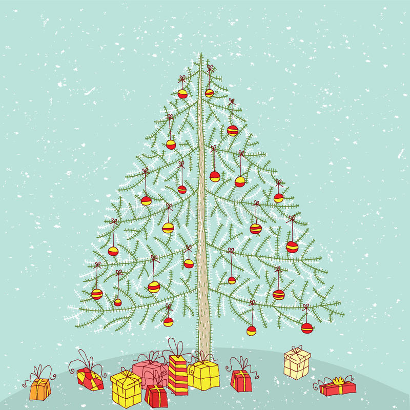 Free Grunge Christmas Tree No. 2 Stock Photography - 30132512