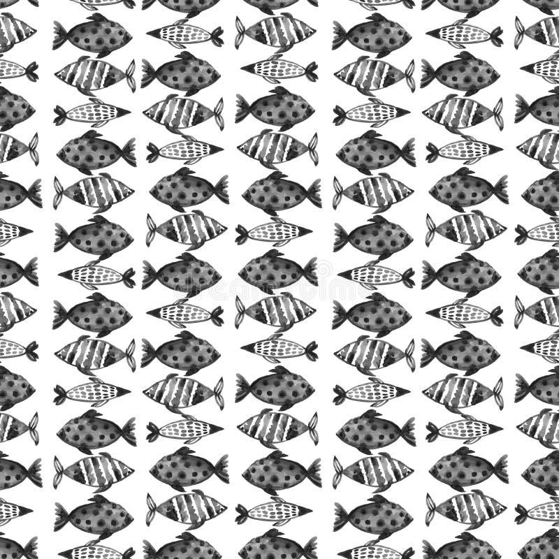 Grunge cinzento preto do sumário do teste padrão e decoração bonita da textura da pintura da tintura do laço do shibori da aquare fotos de stock