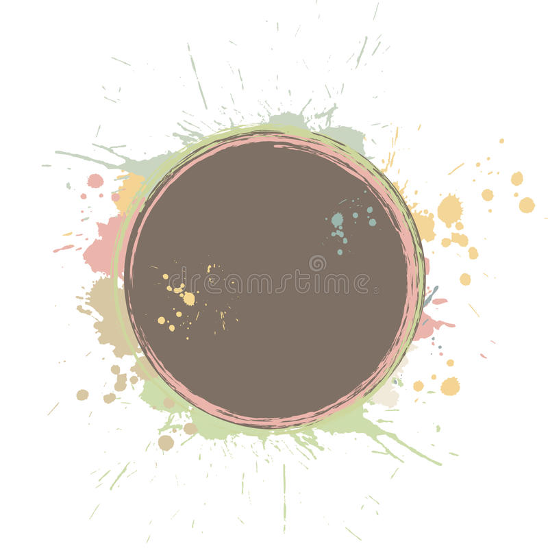 Download Grunge Circle With Splashes Stock Vector - Illustration of funky, spray: 14856751