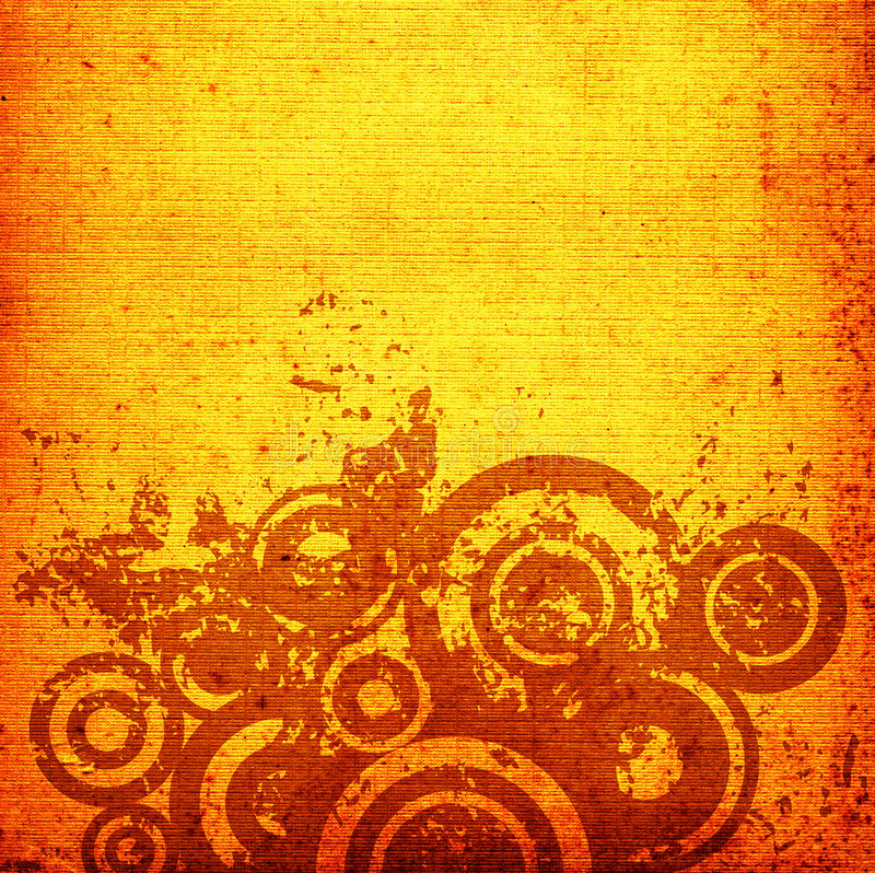 Grunge circles stock illustration