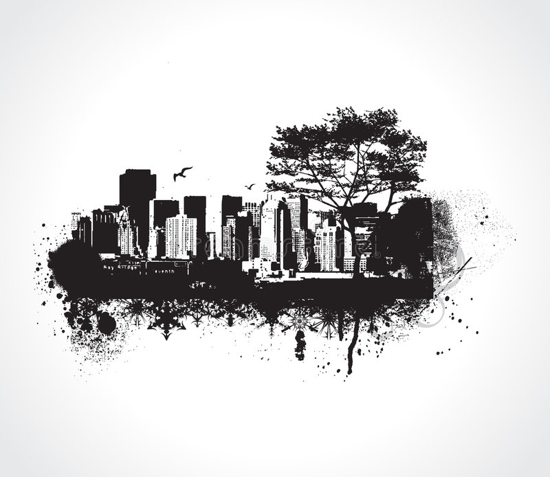 Grunge city. This is a Grunge city vector illustration