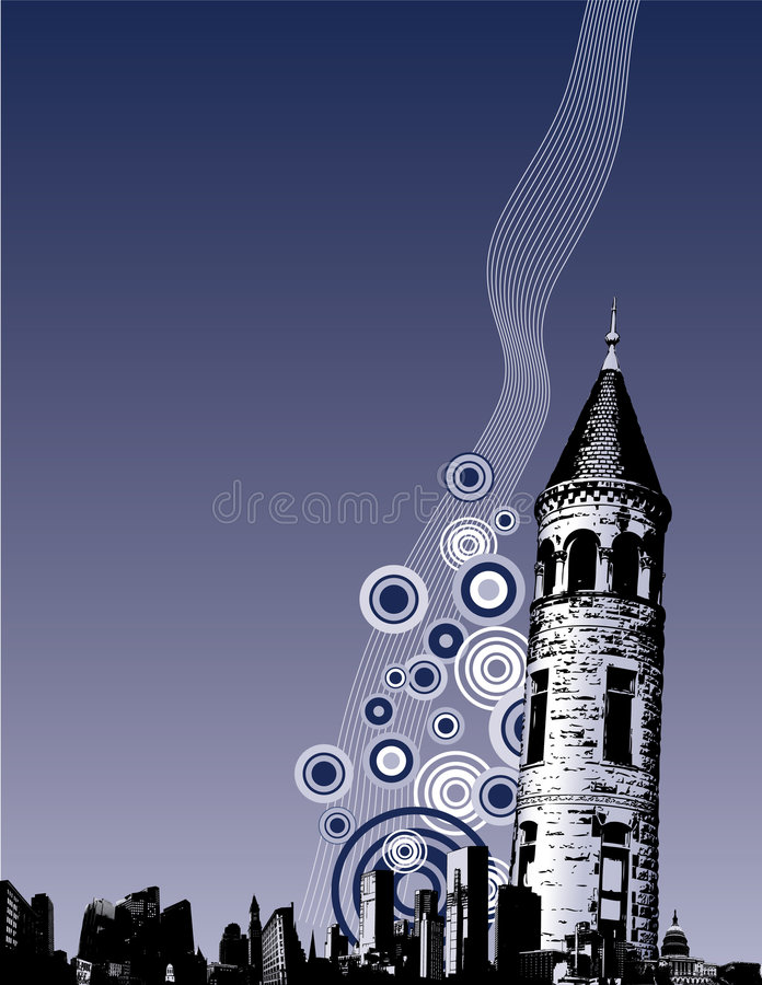 Grunge City Background vector illustration
