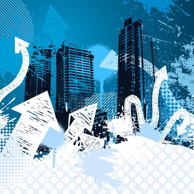 Grunge city design royalty free illustration