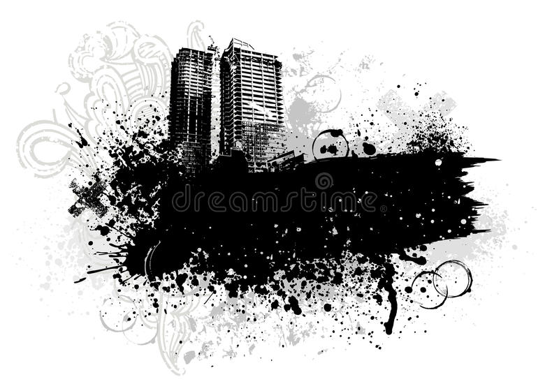 Grunge city design vector illustration