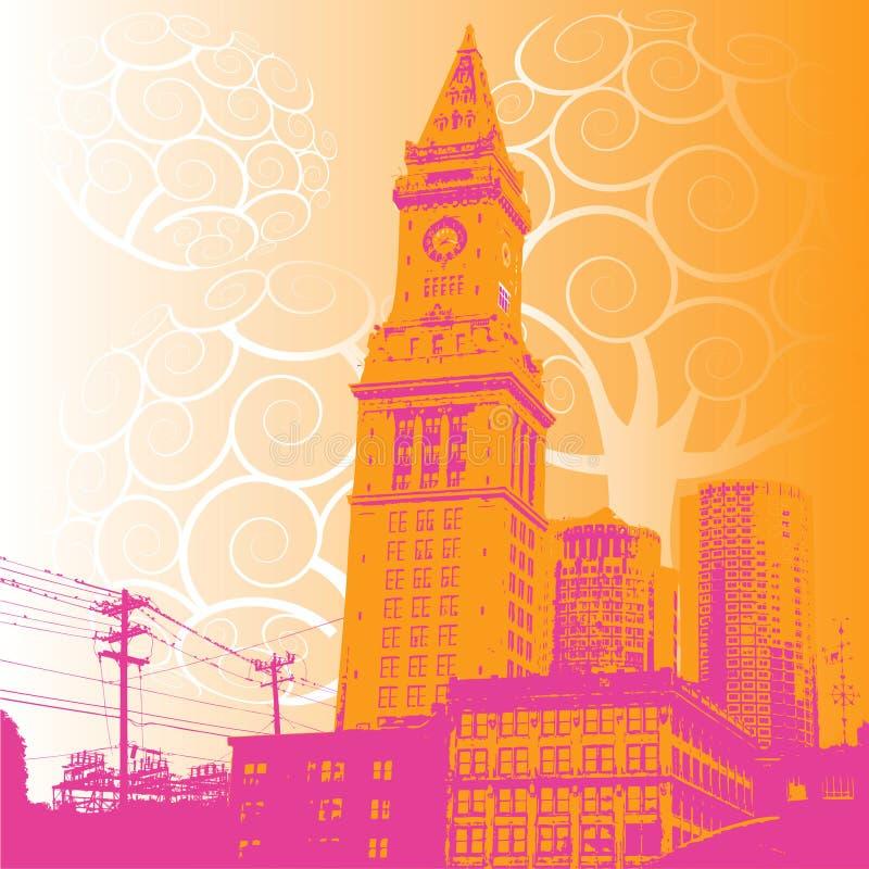 Grunge city illustration vector illustration