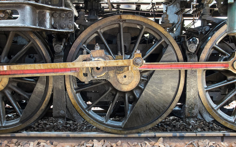 Grunge Classic Transport Steam Train Wheels, Vintage Style royalty free stock photo