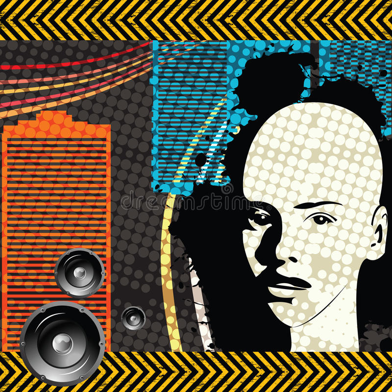 Download Grunge club stock vector. Image of light, girl, speaker - 15266351