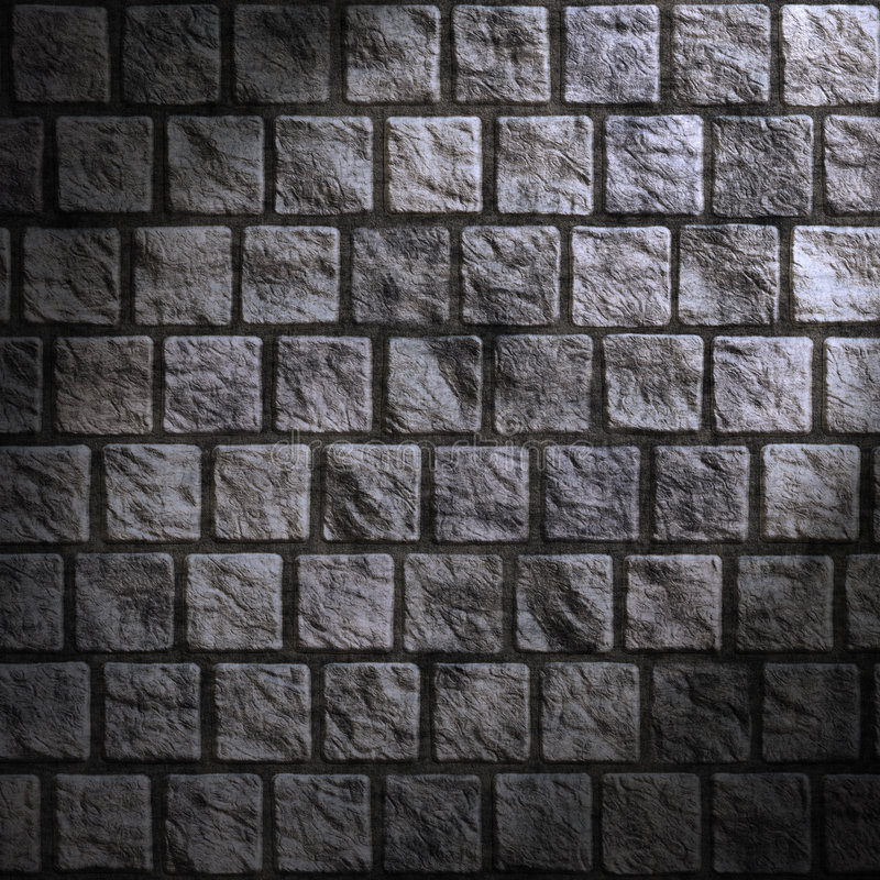 Grunge cobblestone wall. Great dark and grungy cobblestone wall royalty free illustration