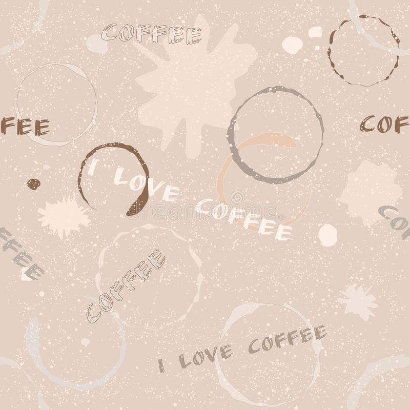 Download Grunge Coffee Seamless Pattern With Text Stock Photo - Image: 31788774