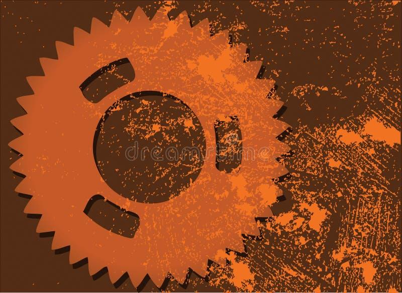 Grunge Cogwheel Royalty Free Stock Photos