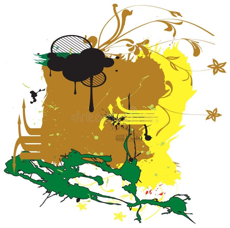 Download Grunge colorea el fondo ilustración del vector. Ilustración de cubo - 7275825