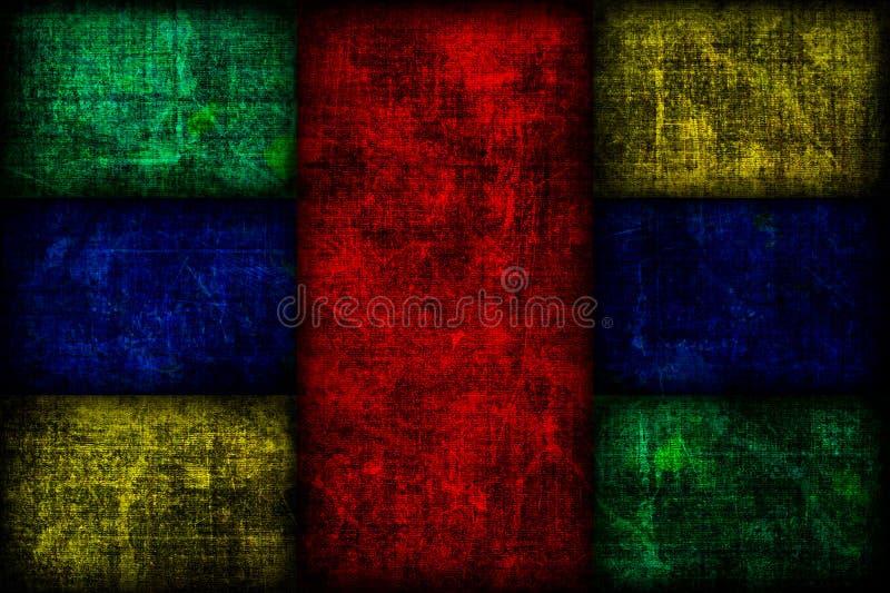 Grunge Colored Fibonacci Boxes Background Royalty Free Stock Photos