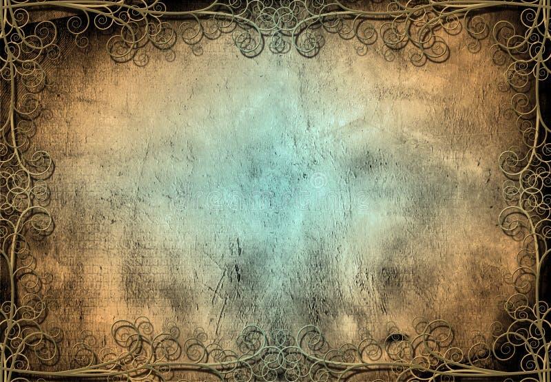 Grunge com trabalho do ferro ilustração royalty free