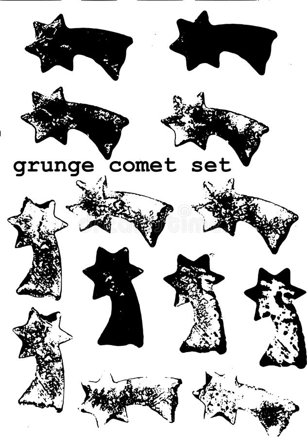 Grunge comets brushes royalty free stock photography