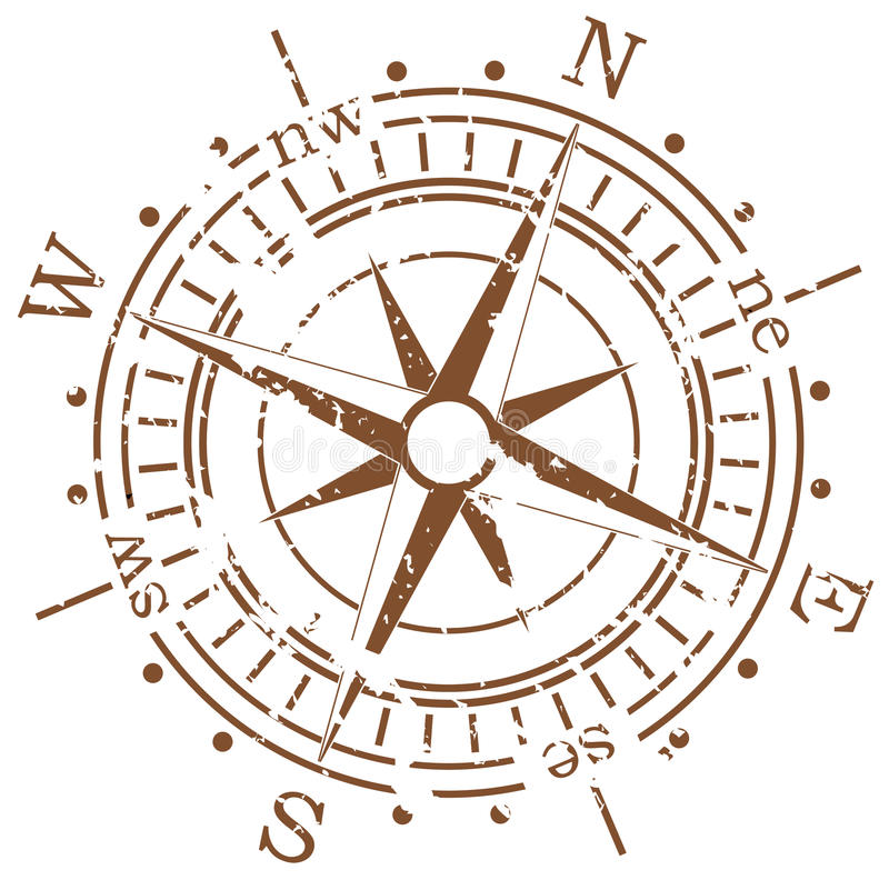Free Grunge Compass Royalty Free Stock Photo - 13848655