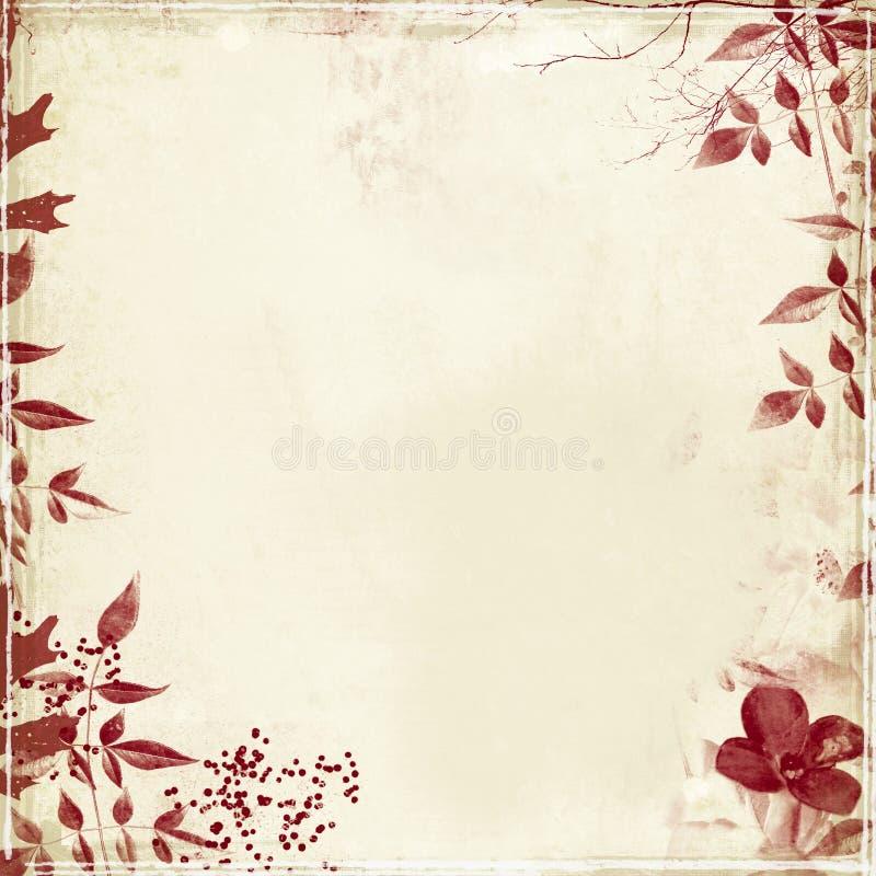 Grunge con follaje y la flor fotos de archivo libres de regalías