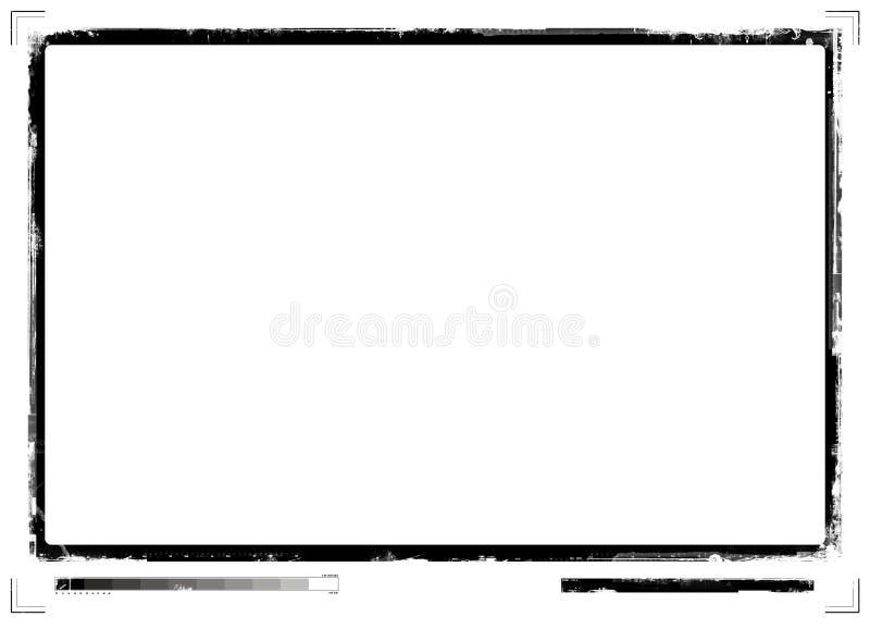 Grunge confina revés ilustración del vector