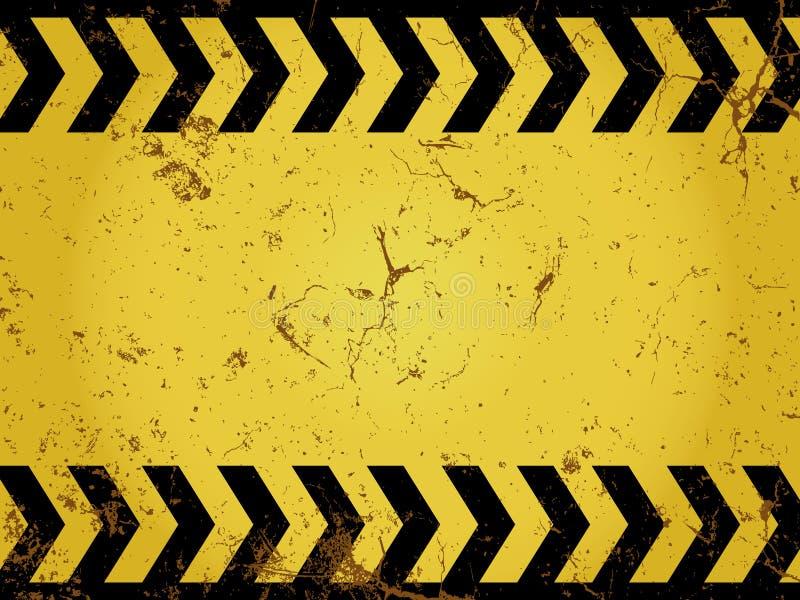 Grunge construction sign stock illustration