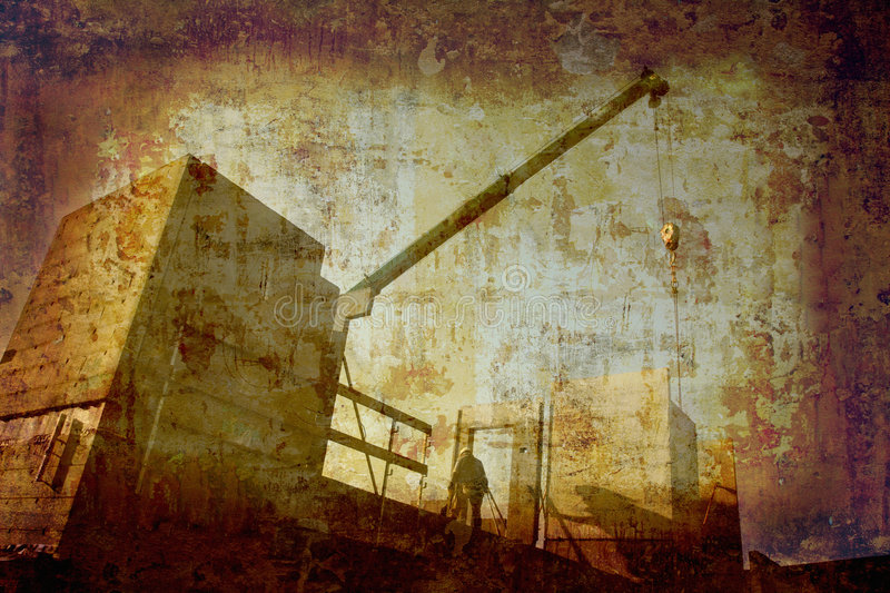 Grunge construction site stock photography