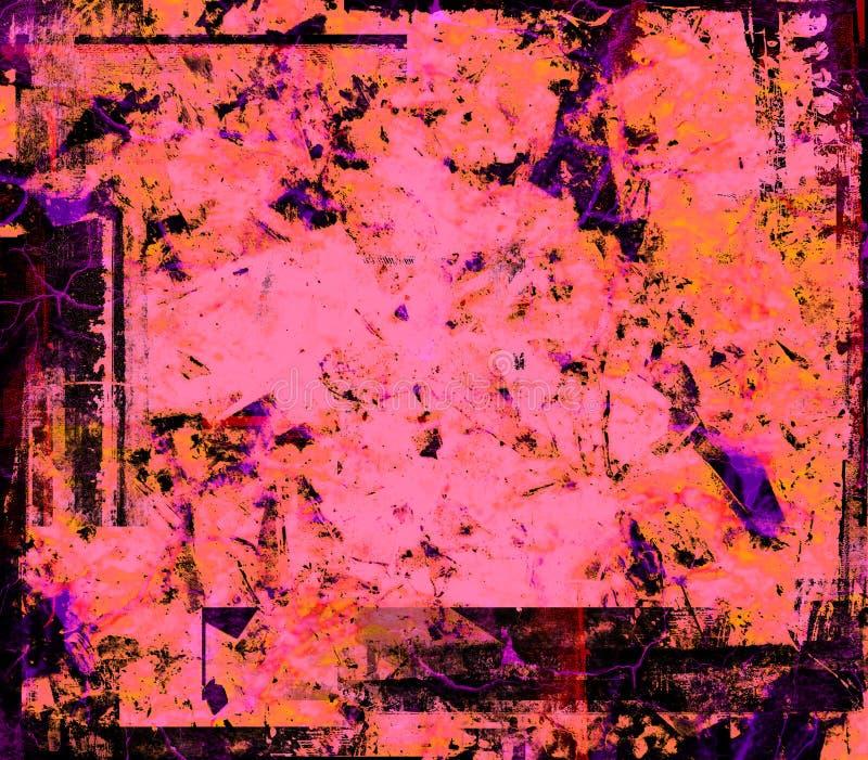 Grunge cor-de-rosa ilustração do vetor