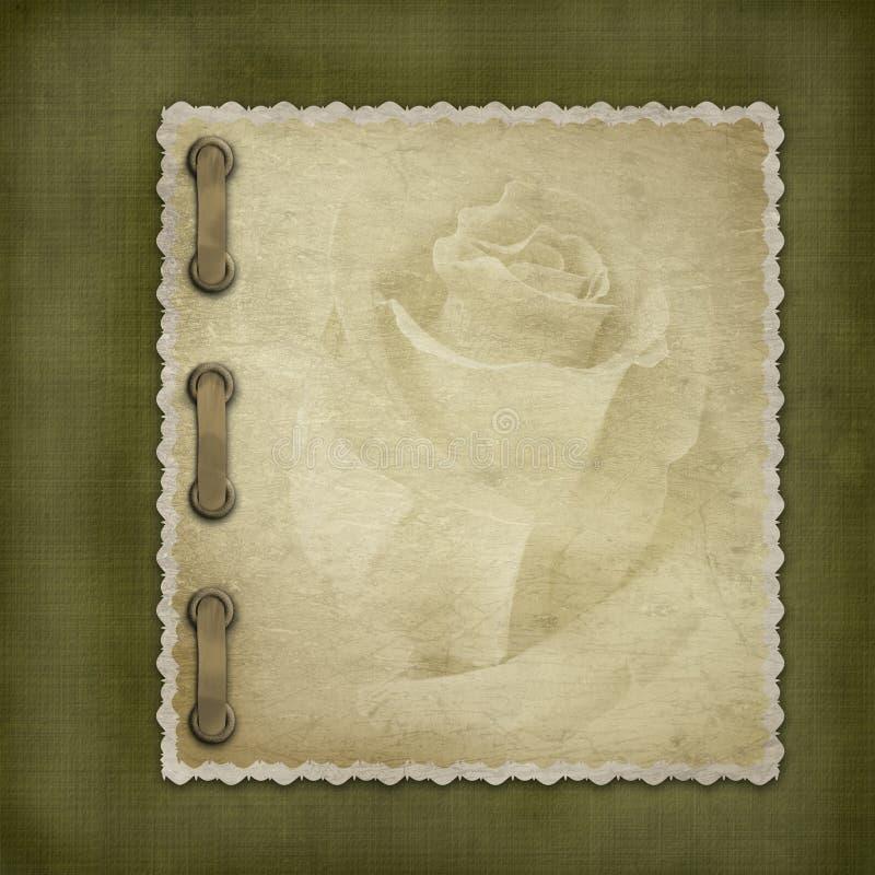 Grunge cover for an album vector illustration