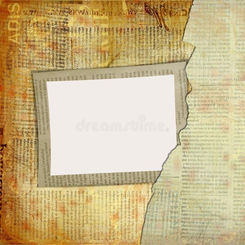 Grunge cover for album or portfolio vector illustration