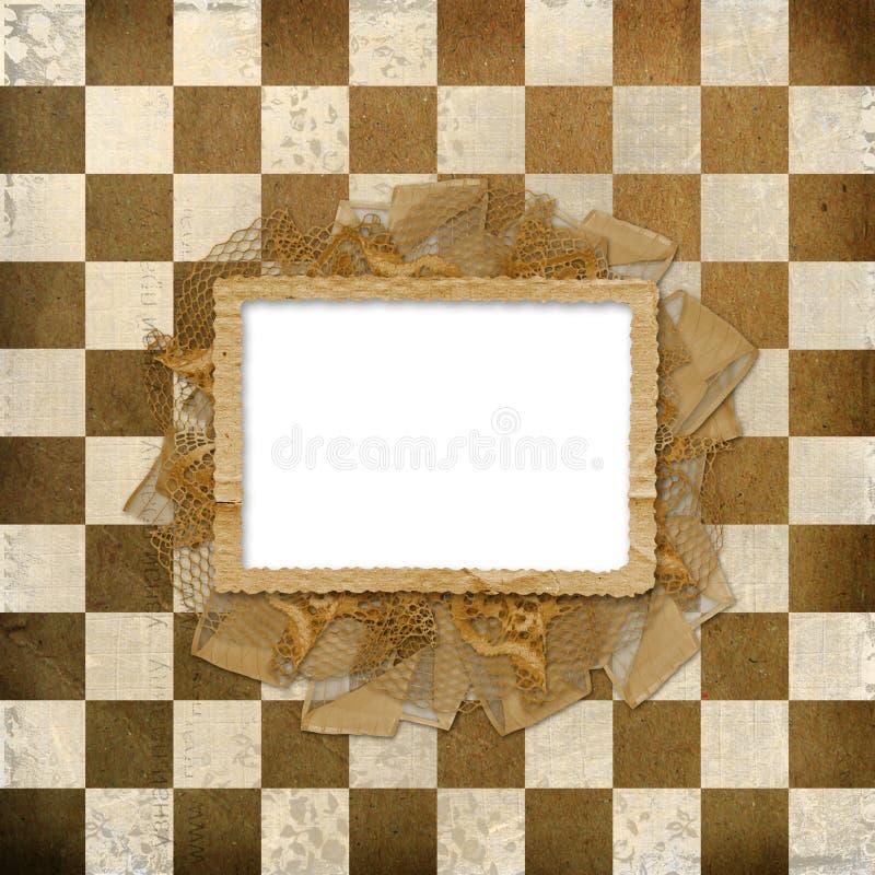 Grunge cover for album or portfolio royalty free illustration
