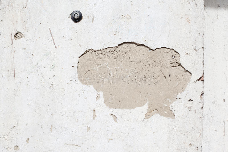 Grunge crack lastered wall royalty free illustration