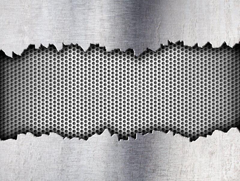 Grunge crack metal background tempalte stock illustration