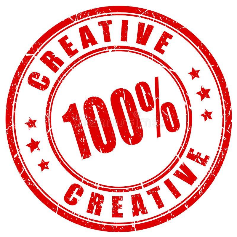 Grunge creatieve zegel royalty-vrije illustratie
