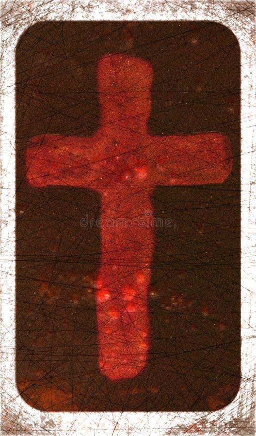 Grunge Cross. Variations on a grunge cross stock photos