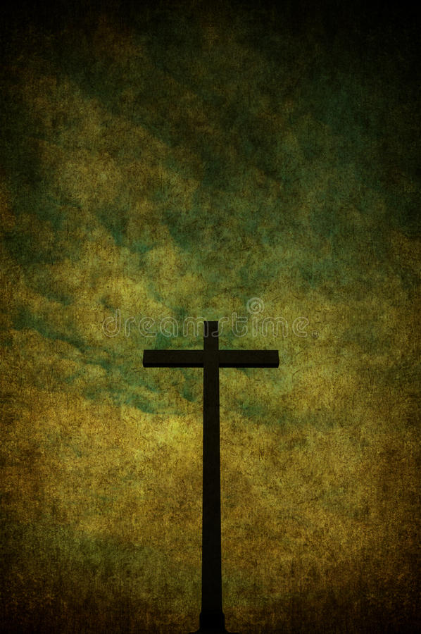 Grunge cross stock photography