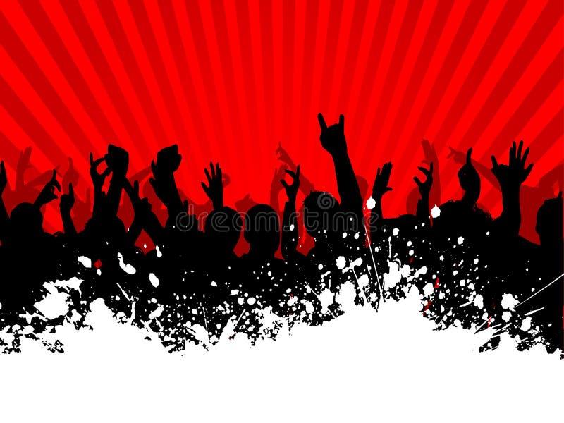 Grunge Crowd Stock Photo
