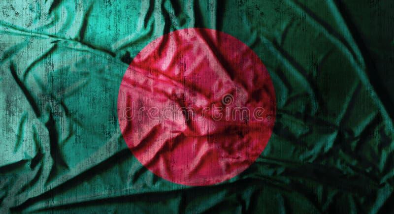 Grunge crumpled Bangladesh flag. 3d rendering royalty free stock photos