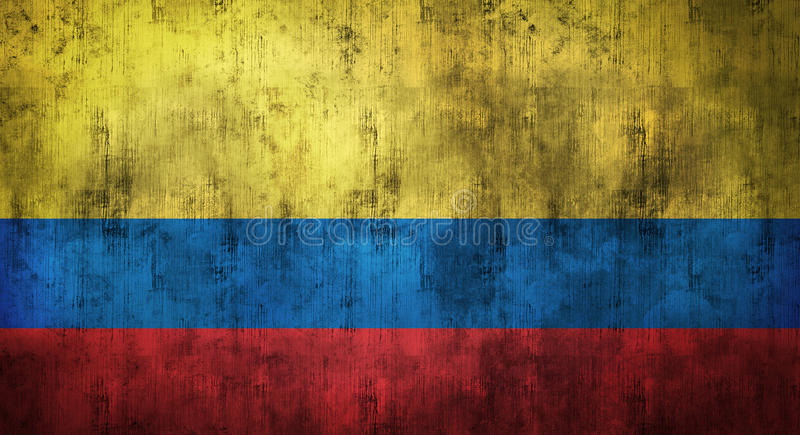 Grunge crumpled Colombia flag. 3d rendering. Grunge crumpled Colombia flag background with dirt. 3d rendering stock photos