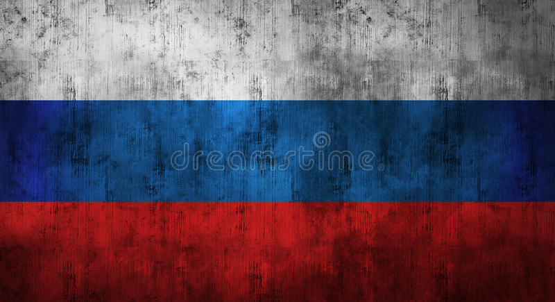 Grunge crumpled russian flag. 3d rendering stock photo