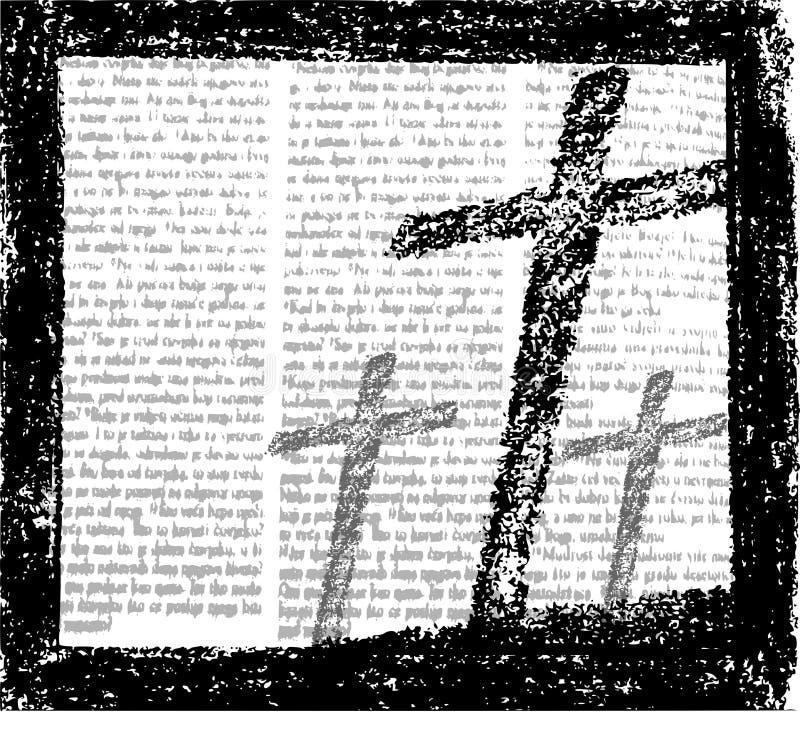 Grunge cruzado stock de ilustración