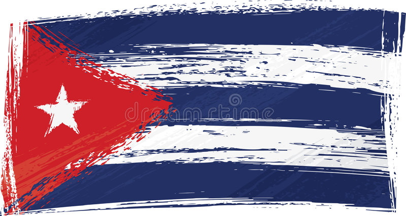 Grunge Cuba flag. Cuba national flag created in grunge style