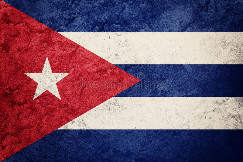 Grunge Cuba flag. Cuban flag with grunge texture. royalty free stock images