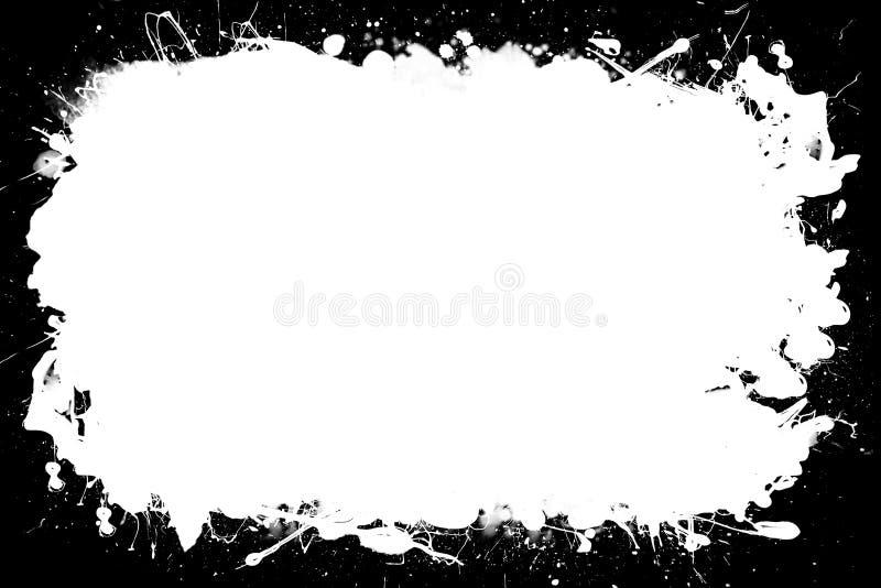 Grunge Czarna & Biała Dekoracyjna fotografii rama Typ tekst Wśrodku, Używa jako narzuta lub dla warstwy/ścinek maski royalty ilustracja