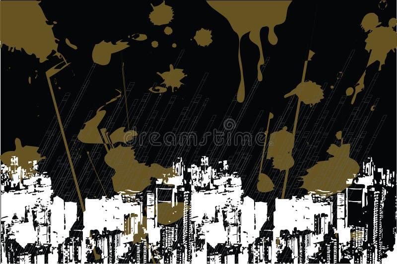 grunge czarnego miejskiego przemysłowe royalty ilustracja