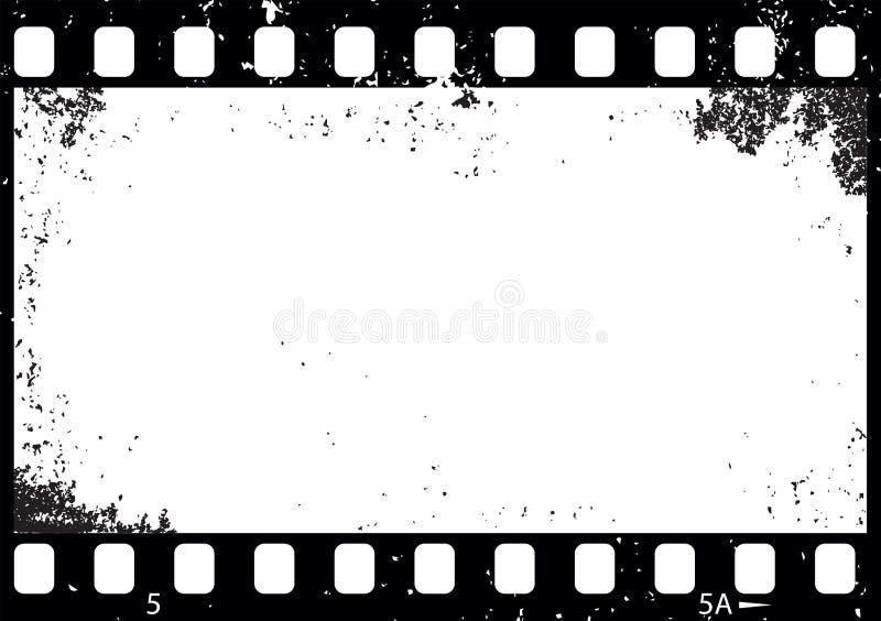 Grunge czarny i biały ekranowa rama, ilustracji