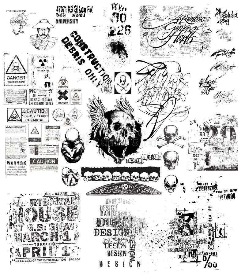 Grunge czarny i biały ilustracja ilustracja wektor