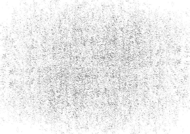 Grunge Czarny I Biały Miastowa Wektorowa tekstura Trasparent Ciemny Upaćkany pyłu tło Abstrakcjonistyczny Kropkowany, rocznik adr ilustracji