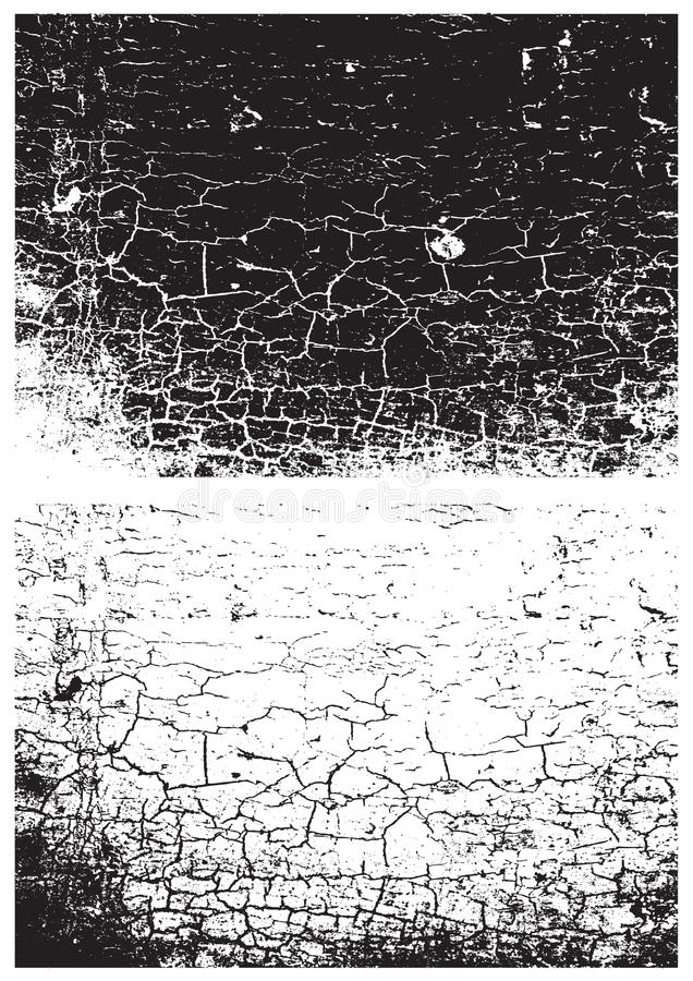 Grunge czarny i biały tekstura Cierpienie tekstura Narys tekstura 3d tło odpłaca się tekstury ścianę Pieczątki tekstura ciężka ko ilustracji
