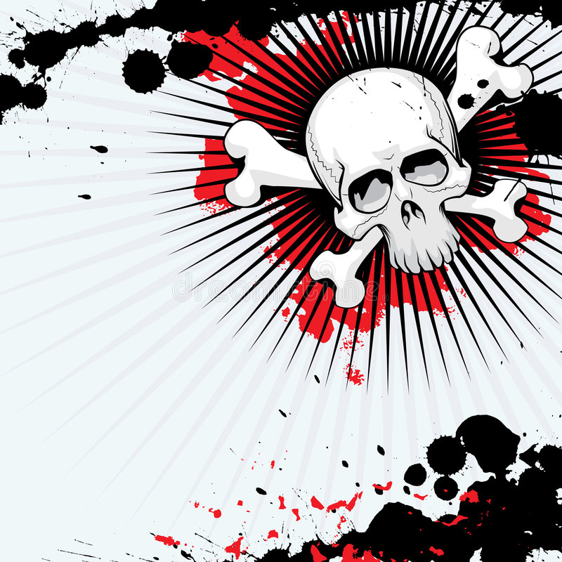 grunge czaszka royalty ilustracja