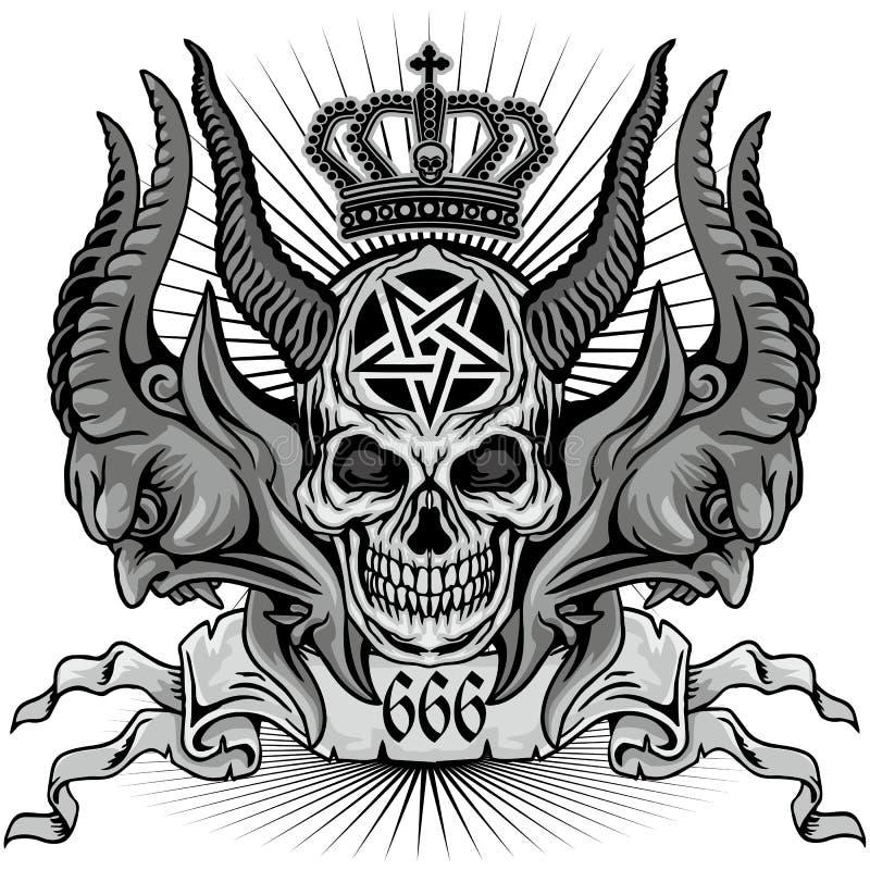 grunge czaszki żakiet ręki royalty ilustracja