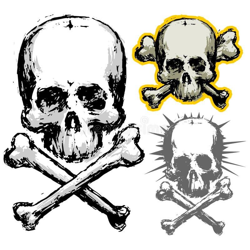 grunge czaszki ilustracja wektor