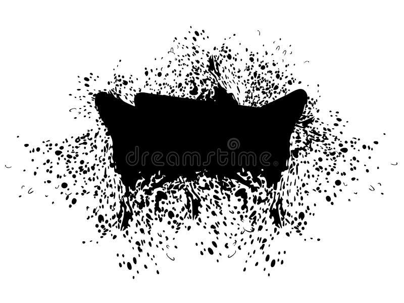 Grunge czerni Splatter royalty ilustracja