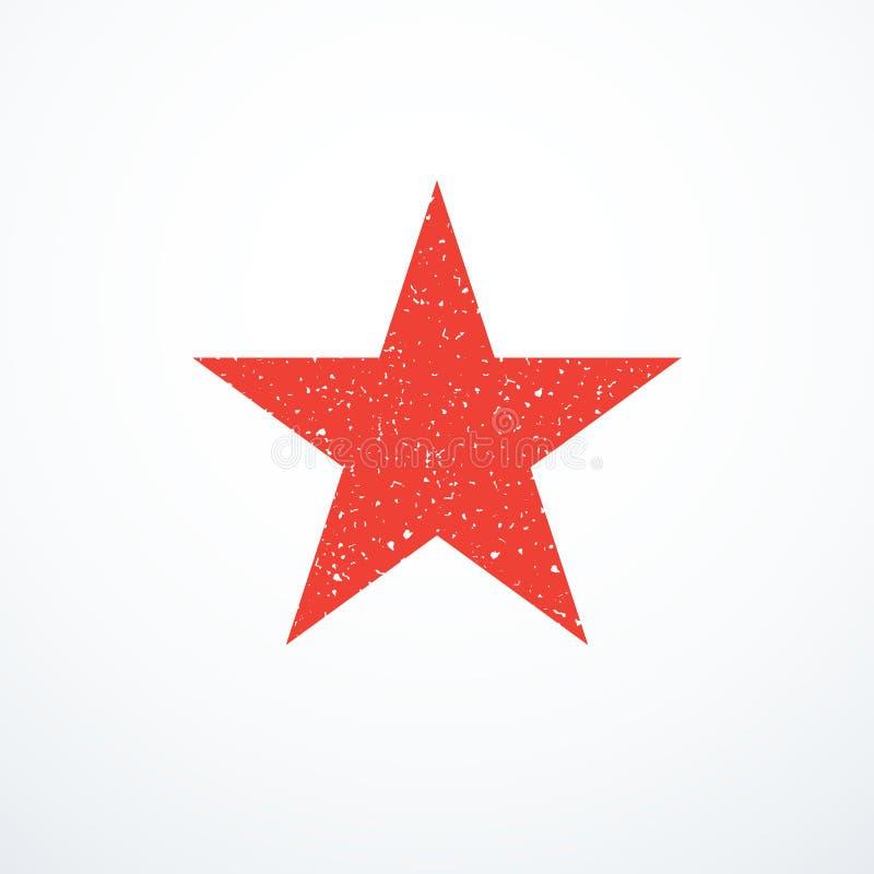 Grunge czerwieni gwiazdy ikona również zwrócić corel ilustracji wektora royalty ilustracja